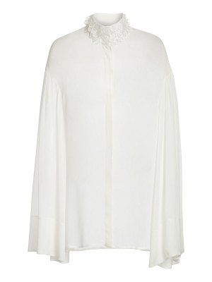 THE ROW sarabee embellished sheer blouse