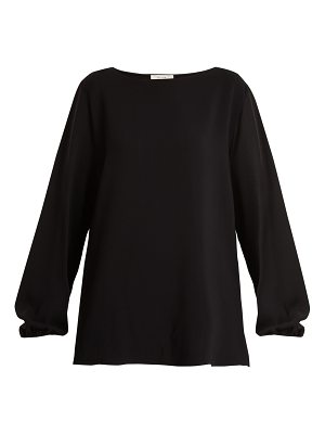 THE ROW Sorel boat-neck crepe top