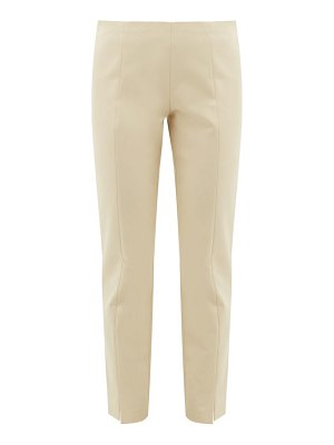 THE ROW sorocco slit-cuff stretch-cotton trousers