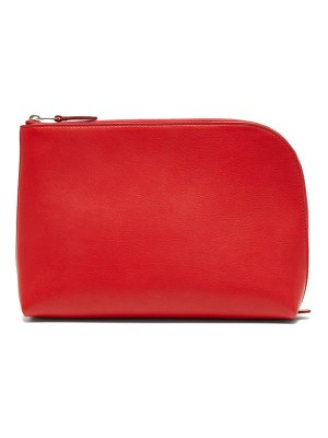 THE ROW square pochette medium leather clutch