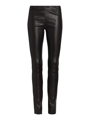 THE ROW stretch leather moto leggings