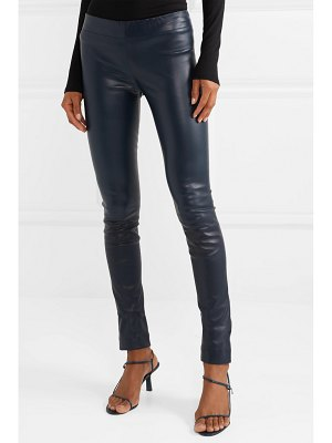THE ROW stretch-leather skinny pants