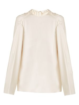 THE ROW Terha round-neck silk-satin top