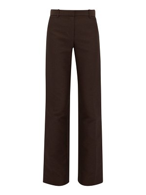 THE ROW terrance straight leg crepe tailored trousers