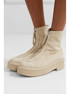 THE ROW textured-nubuck platform ankle boots