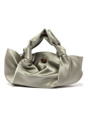 THE ROW the ascot grey satin clutch bag