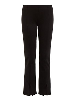 THE ROW thilde mid-rise slit-cuff trousers