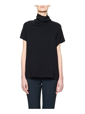 THE ROW Toma Jersey Funnel-Neck Sweater