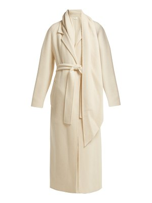 THE ROW tooman long line cashmere and wool blend coat