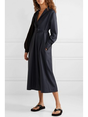 THE ROW tula belted wool midi dress