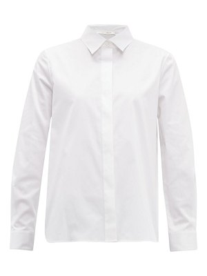 THE ROW yssetra cotton blend poplin shirt