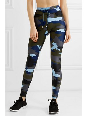 THE UPSIDE abstract camouflage-print stretch leggings