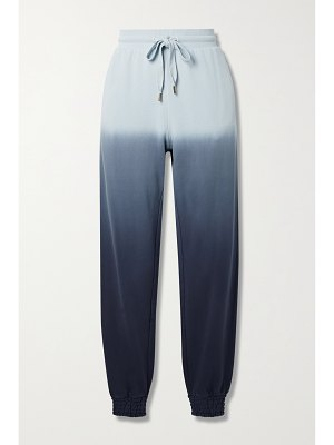 THE UPSIDE alena embroidered ombré cotton-jersey track pants