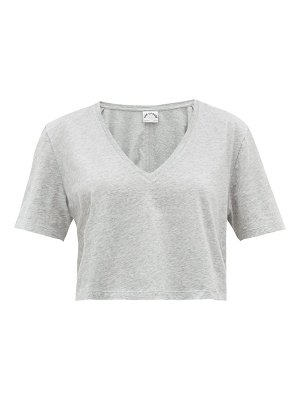 THE UPSIDE annie cropped cotton t shirt