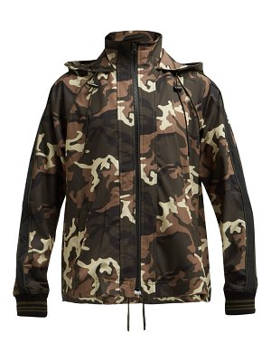 THE UPSIDE ash camouflage print hooded jacket