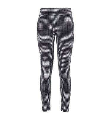 THE UPSIDE checked stretch-jersey cropped leggings