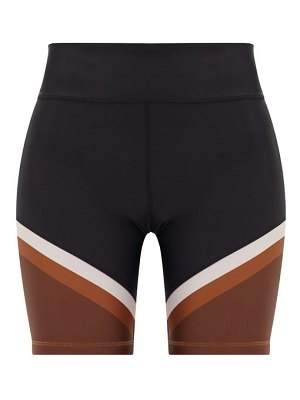 THE UPSIDE colour block panelled spin shorts