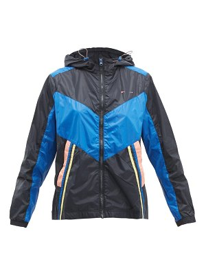 THE UPSIDE colour block technical track jacket