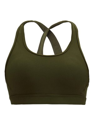 THE UPSIDE freedom lisa embroidered stretch-jersey sports bra