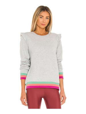 THE UPSIDE frill bondi crew sweatshirt