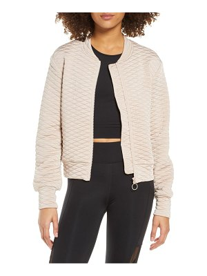 THE UPSIDE jagger quilted bomber jacket