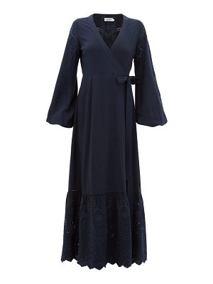 THE UPSIDE kate broderie-anglaise wrap dress