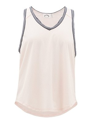 THE UPSIDE lea v-neck perforated-jersey tank top