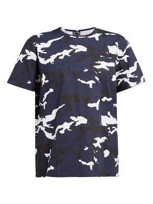 THE UPSIDE marine camouflage print cotton t shirt
