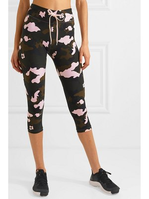 THE UPSIDE nyc cropped camouflage-print stretch leggings