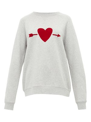THE UPSIDE one love heart print cotton sweatshirt