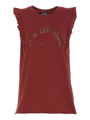 THE UPSIDE printed cotton-jersey tank top