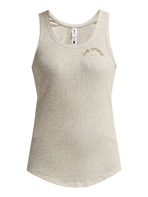 THE UPSIDE t bar ribbed cotton tank top