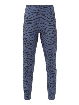 THE UPSIDE tiger-print jersey training leggings