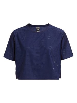 THE UPSIDE track perforated cropped t shirt