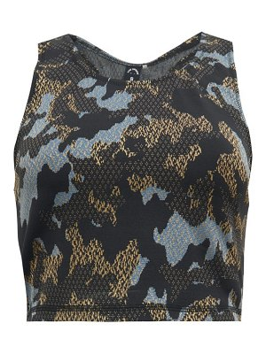 THE UPSIDE twilight camo-jacquard cropped training tank top