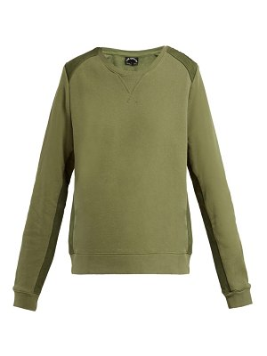 THE UPSIDE twill panelled cotton sweatshirt