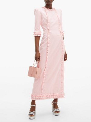 THE VAMPIRE'S WIFE cate ruffle trimmed cotton corduroy midi dress