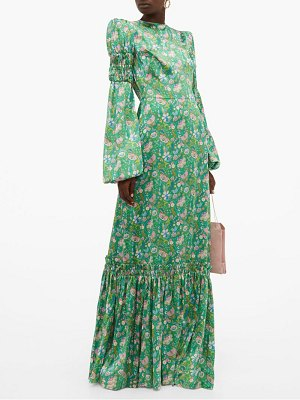 THE VAMPIRE'S WIFE festival floral print silk charmeuse maxi dress