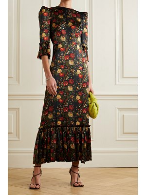 THE VAMPIRE'S WIFE festival ruffled floral-print silk-satin maxi dress