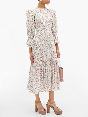 THE VAMPIRE'S WIFE floral song bird printed cotton dress