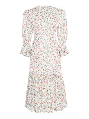 THE VAMPIRE'S WIFE floral song bird printed cotton maxi dress size: 10
