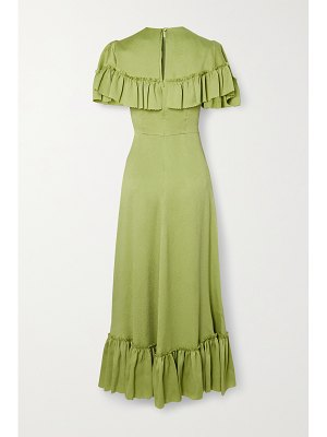 THE VAMPIRE'S WIFE ruffled hammered silk-satin midi dress