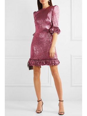 THE VAMPIRE'S WIFE ruffled silk-blend lamé mini dress