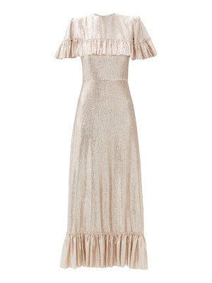 THE VAMPIRE'S WIFE the bombette ruffled wool-blend lamé maxi dress