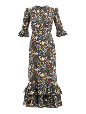 THE VAMPIRE'S WIFE the cinderella floral-print cotton-poplin dress