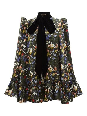 THE VAMPIRE'S WIFE the confessional floral-print silk-satin cape