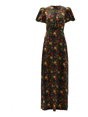 THE VAMPIRE'S WIFE the confessional floral-print silk-satin dress