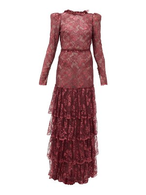 THE VAMPIRE'S WIFE the early metallic-lace dress