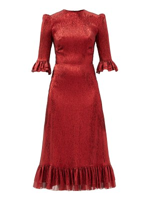 THE VAMPIRE'S WIFE the falconetti ruffled metallic silk-blend dress