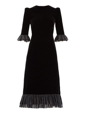 THE VAMPIRE'S WIFE the falconetti ruffled silk-blend velvet dress